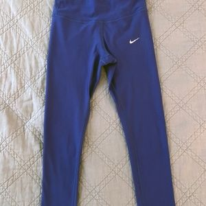 Nike Running Tights 7/8 Blue Size Small